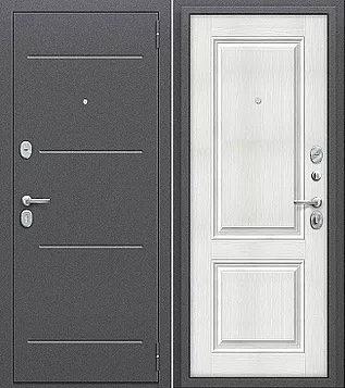 входная дверь Porta Стиль (Антик Серебро/Bianco Veralinga)