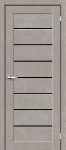 Межкомнатная дверь с покрытием 3D Б-22 /Gris Beton/Black