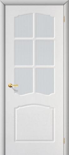Межкомнатная дверь с покрытием ПВХ Альфа ДО / белый