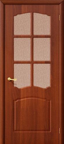 Межкомнатная дверь с покрытием ПВХ Альфа ДО / итальянский орех