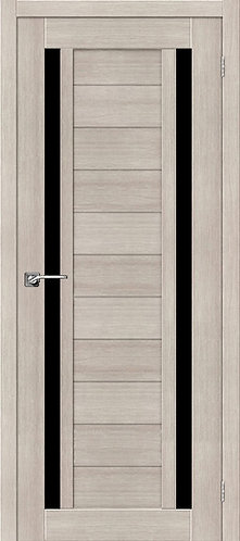 Межкомнатная дверь экошпон ST-6 Black / Cappuccino Veralinga
