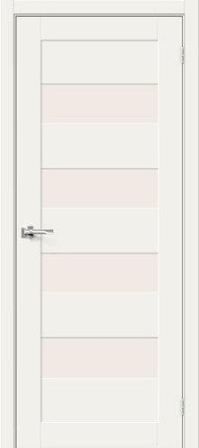 Межкомнатная дверь с покрытием 3D Б-23 /White Mix