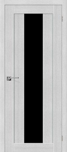 Межкомнатная дверь экошпон ST-7m Black / Bianco Veralinga