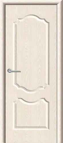 Межкомнатная дверь с покрытием ПВХ Анастасия ДГ / беленый дуб