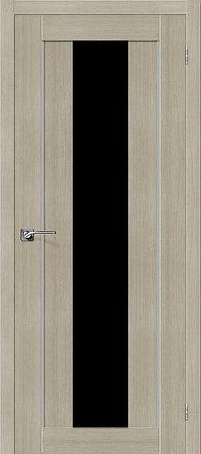 Межкомнатная дверь экошпон ST-7m Black / неаполь