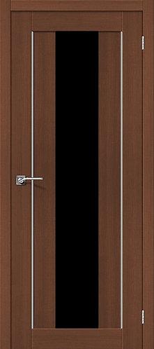 Межкомнатная дверь экошпон ST-7m Black / орех