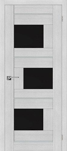 Межкомнатная дверь экошпон ST-3m Black / Bianco Veralinga