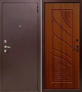 входная дверь Астра (антик медь/итальянский орех)