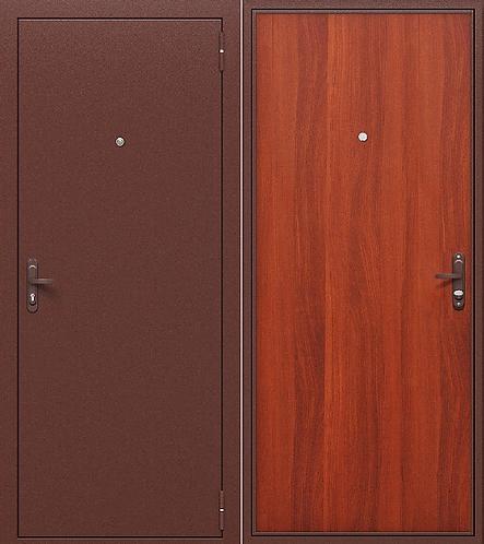 входная дверь ГОСТ РФ (антик медь/итальянский орех)