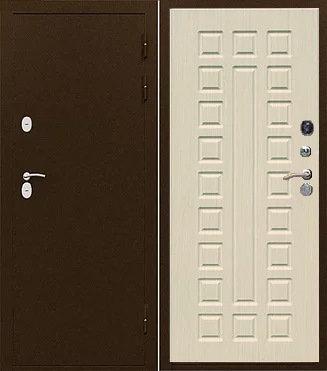 Входная стальная дверь с терморазрывом ИЗОТЕРМА лиственница мокко