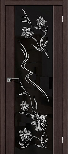 Межкомнатная дверь экошпон S-13 Print / Wenge Veralinga