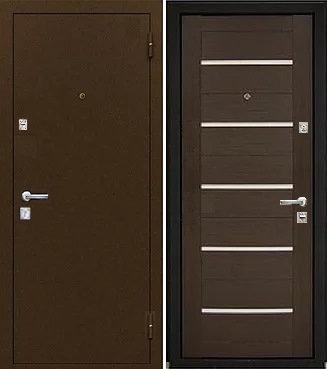входная дверь Йошкар Ола СИЛУЭТ (антик медь/венге)
