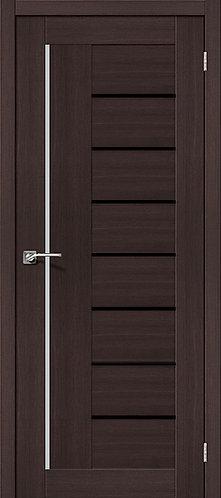 Межкомнатная дверь экошпон ST-9m Black / Wenge Veralinga