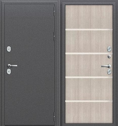 Входная дверь стальная с терморазрывом ТЕРМО - 204 капучино