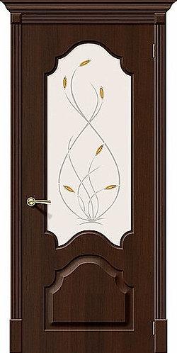 Межкомнатная дверь с покрытием ПВХ Скинни-33 / венге