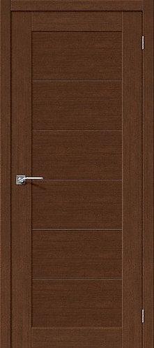 Межкомнатная дверь экошпон L-21 /Brown Oak