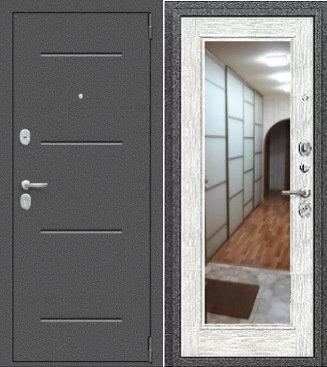 входная дверь Porta Флэш (Антик Серебро/Bianco Veralinga)