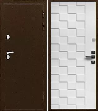 Входная дверь с терморазрывом ФРОСТ лиственница бежевая