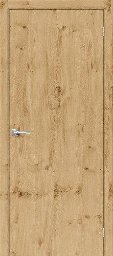 межкомнатная дверь натуральный шпон Вуд Флэт-0V/Barn Oak