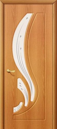 Межкомнатная дверь с покрытием ПВХ Лотос ДО / миланский орех