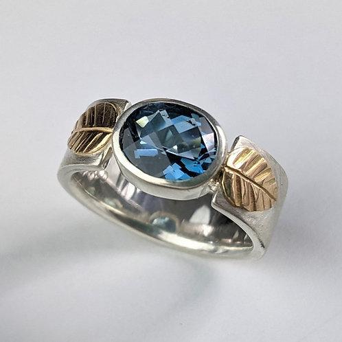 Topaz Leaf Ring