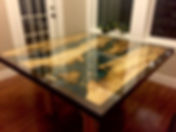 maple walnut river table