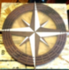 compass rose cribbage board