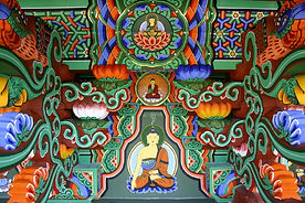 dipinto buddista