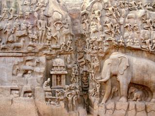 """Mahabalipuram """"la penitenza di Arjuna"""""""