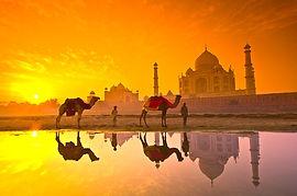 Agra, Taj Mahal al tramonto