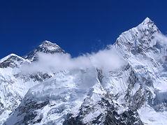 le alte montagne del Tibet e Nepal