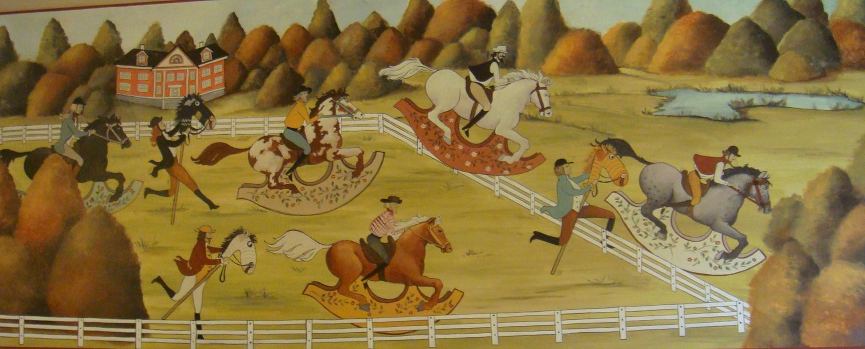 ognuno gareccia con il cavallo che ha.JP