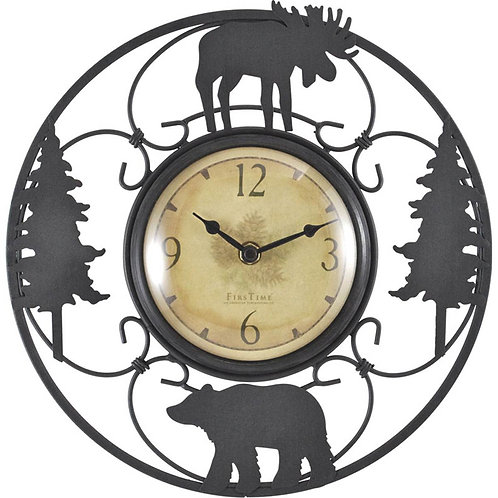 """Firstime Manufactory 11"""" Wildlife Wire Clock"""
