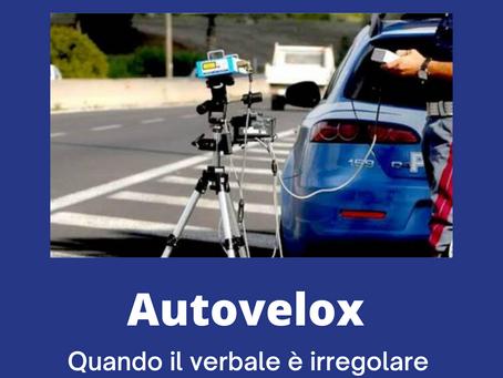 Autovelox: quando il Verbale è irregolare