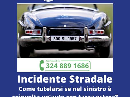 Incidente stradale con veicolo straniero