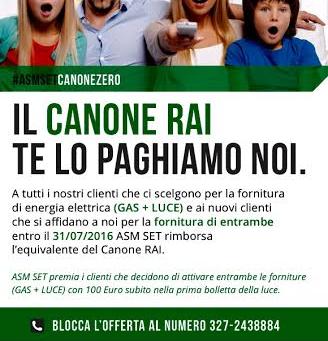 ASM Rovigo paga il canone RAI ai nuovi clienti