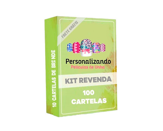 kit Revenda - 100 Cartelas