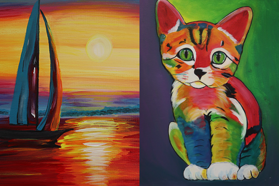 Acrylic Painting Camp 10:00-1:00pm