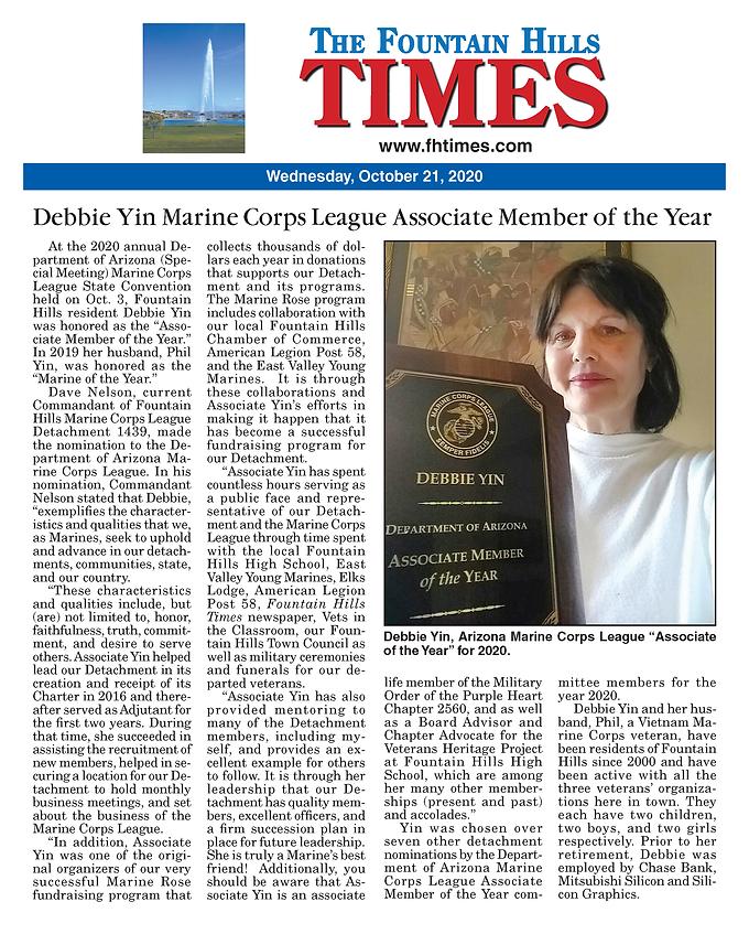 Debbie Yin Associate Member of the Year