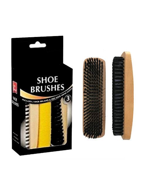 Wooden Shoe Brush Kit