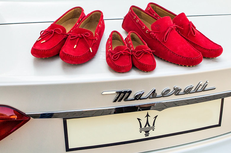 Sir, Lady and Little red driving loafer