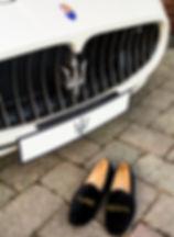 Pure Regal velvet slip on shoes
