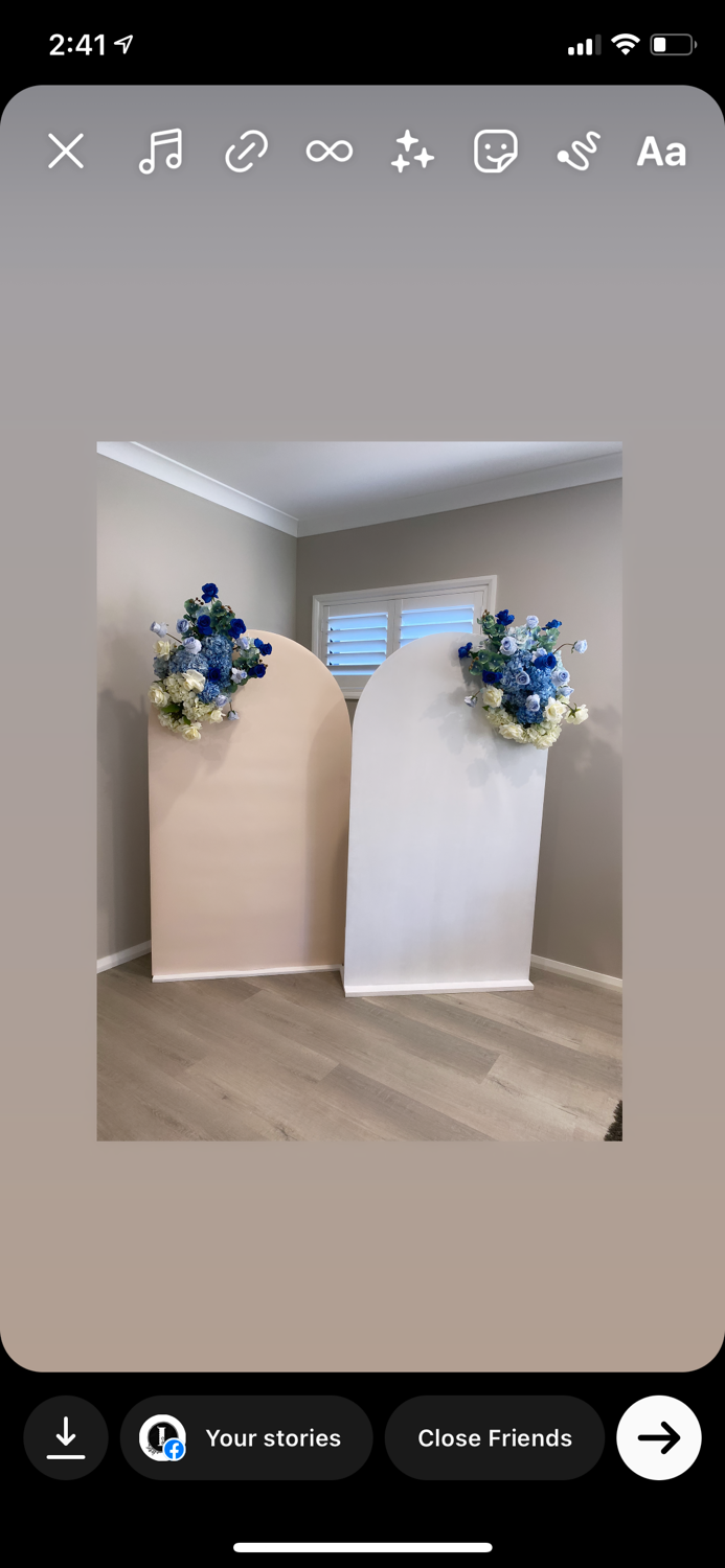 White, Nude, Pink & Blue Arch Backdrops