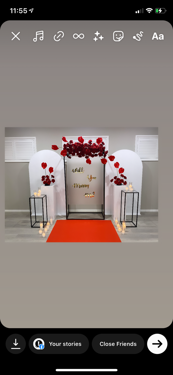 Red Themed Propsal Set Up