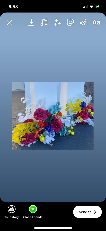 Custom Made Silk Floral Arrangements