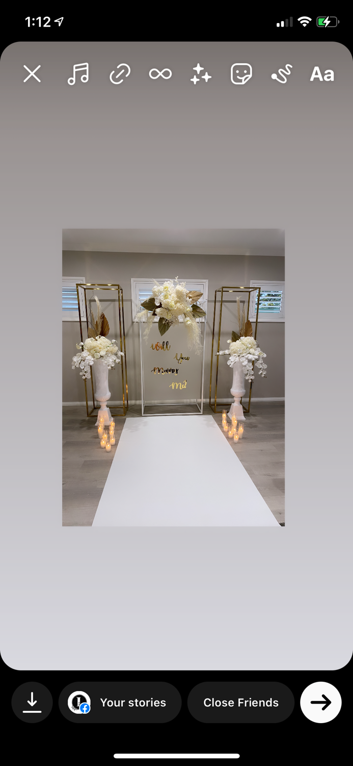White Themed Proposal Set up