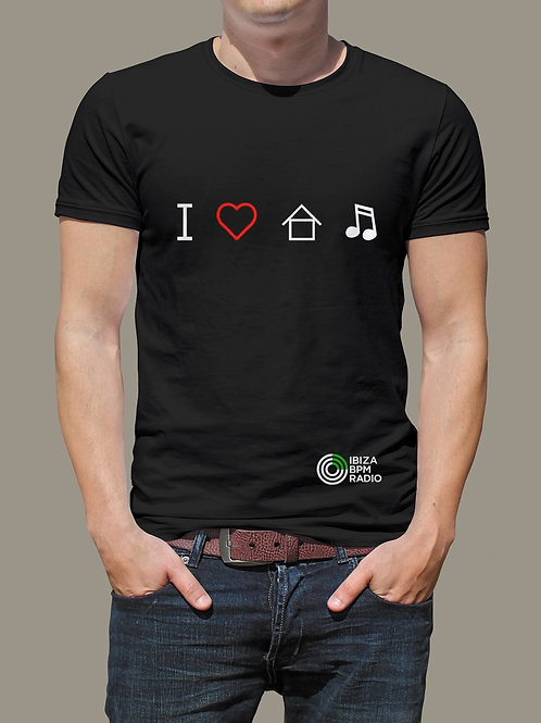 T- SHIRT  I LOVE HOUSE MUSIC 2020