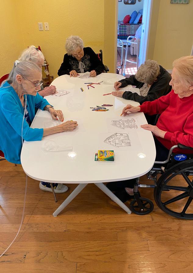 Senior resident coloring | 4 seasons senior living