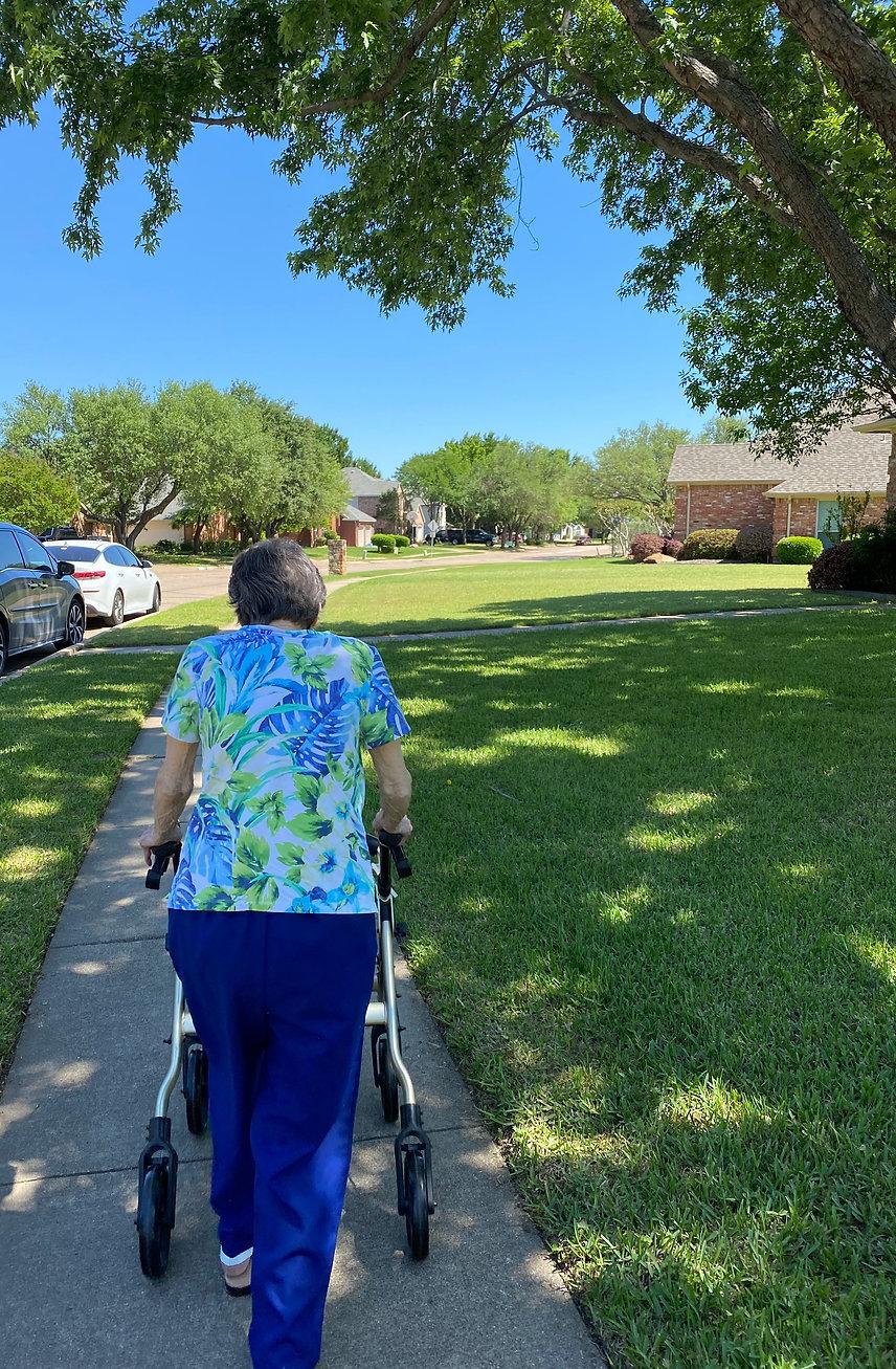Senior Walking | Group Home Activities | 4 Seasons Senior Living