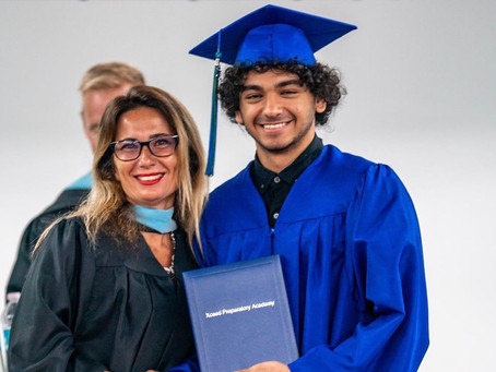 Yousef Ayman graduates High School in Florida at DME!